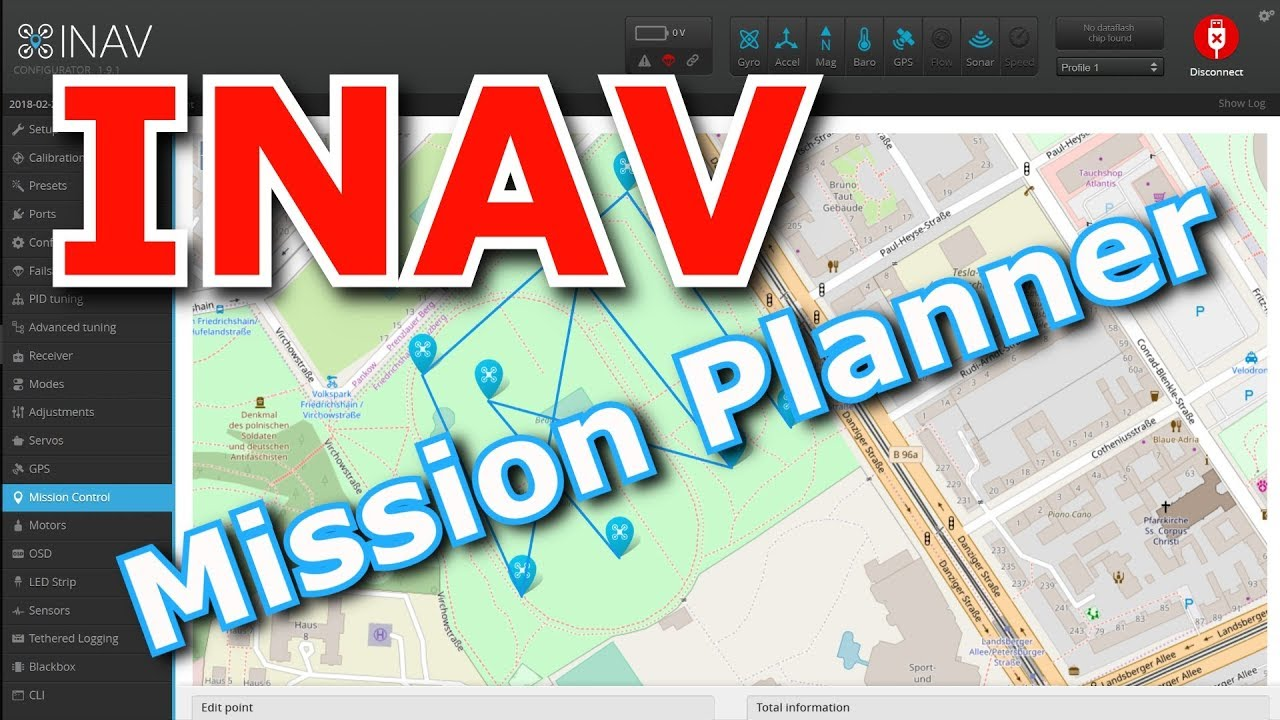 INAV Misson Control = Real Mission Planner in Configurator