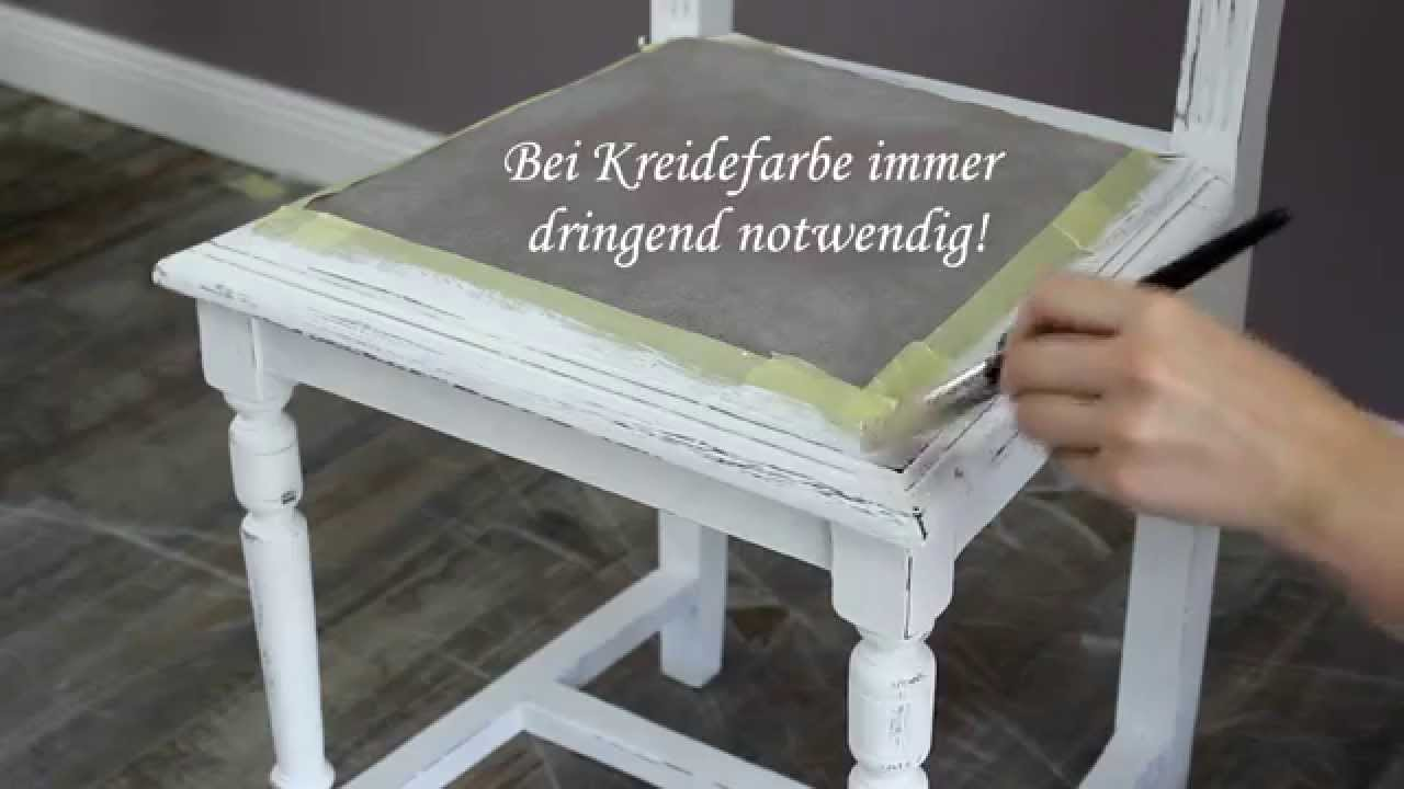 m bel mit farbe in shabby chic objekte verwandeln youtube. Black Bedroom Furniture Sets. Home Design Ideas