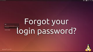 Ubuntu 14.04, 16.04, 18.04 - Forgot Login Password? Change/Create New One.