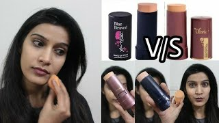 Blue Heaven V/S Olivia Pan Stick | Which One to Buy?? | Comparison/Review/Demo | Super Style Tips