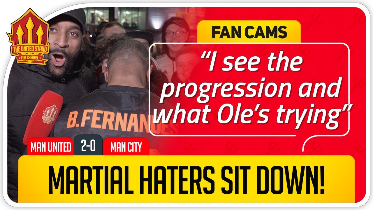 MARTIAL HATERS SIT DOWN! Manchester United 2-0 Manchester City FanCam