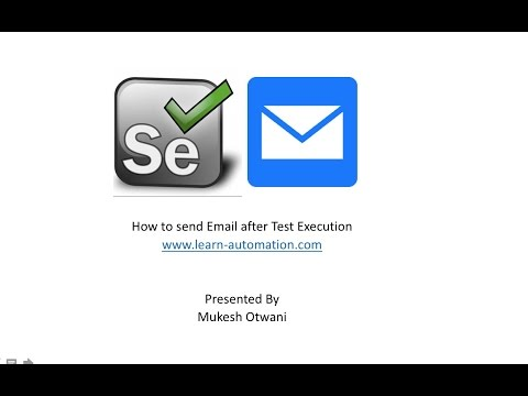 How to Send Emails in Selenium Webdriver Using Commons email API