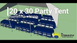 How Many Guests Can Fit Under A 20 x 30 Party Tent? - Dreamers Event Rentals