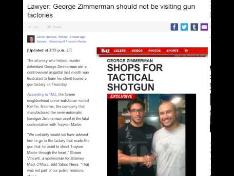 Lawyer: George Zimmerman should not be visiting gun factories