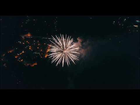 Drone view of the 4th of July Fireworks in Peachtree City, Ga