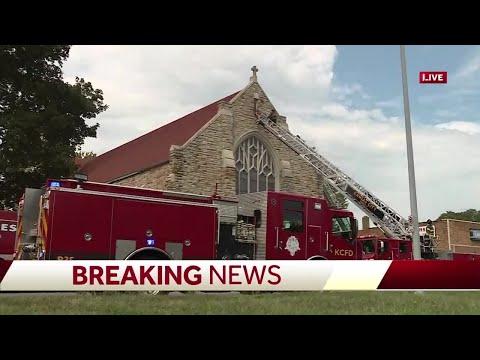 Fire damages church in Kansas City's Waldo area
