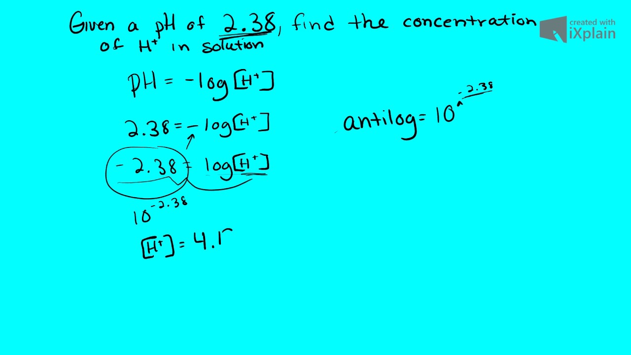How to find a concentration 13
