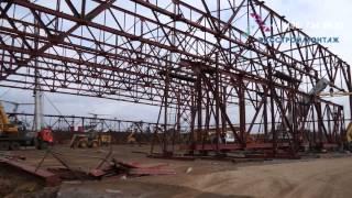 Монтаж фермы покрытия пролетом 84 метра(, 2013-11-18T10:11:59.000Z)