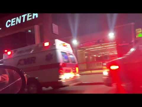Ambulances  long Line Street in New-York
