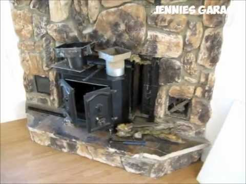 Video of me removing an old Heatilator corner fireplace with insert
