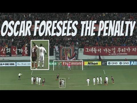 В матче Азиатской Лиги чемпионов Оскар помог своему вратарю отразить пенальти