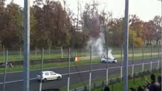 Curve a granchio! monza 18-11-12 crash evo9 uscita ascari