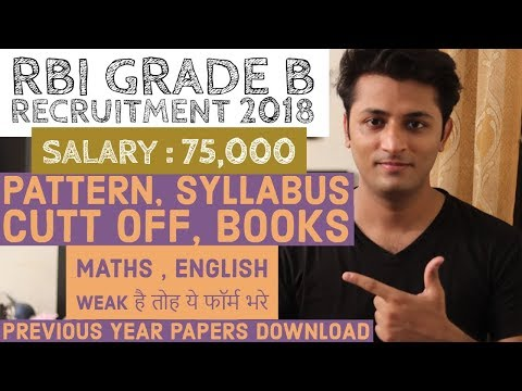 RBI Grade B Notification Out - Check Syllabus , pattern , Cut Off ,Books || Download Previous Papers