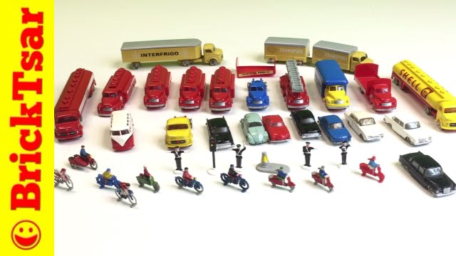 Ho Scale Lego Collection 1950s 60s Truck Cars And People Youtube