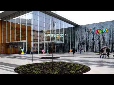 HARFA Mall | Prague, Czech Republic | Printed Glass Façade | Commercial Center | Dip-Tech