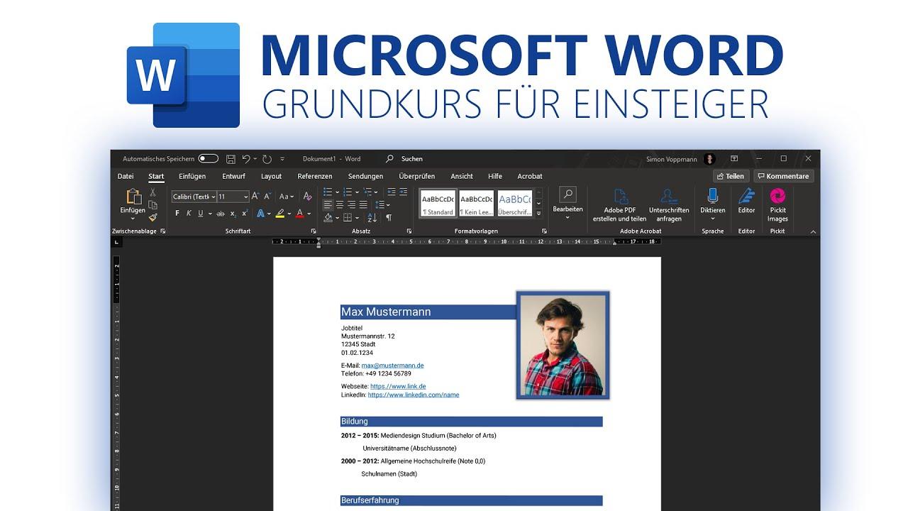 Microsoft Word Grundkurs für Einsteiger Deutsch 20