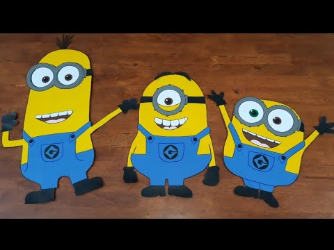 DIY minions paper crafts / how to make minions for kids