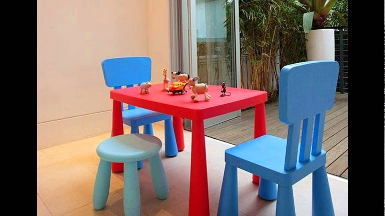 Plastic Tables And Chairs For Kids Youtube