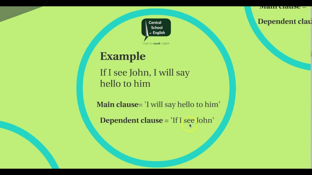 Main Clause And Dependent Clause 1 Youtube