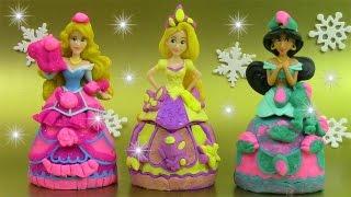 Pâte à modeler Princesse Mix n match Nouvelles poupées Aurore Raiponce Jazmine