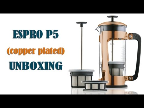 Unboxing Espro P5 Copper, Glass French Press Coffee Maker