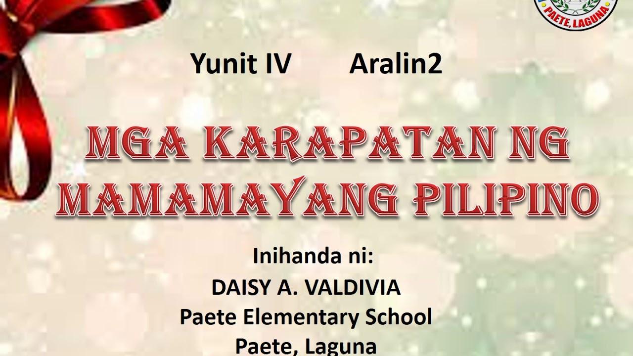 AP Y4 Aralin 2: Mga Karapatan ng Mamamayang Pilipino