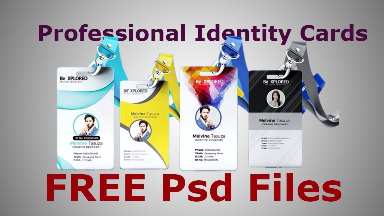 Professional Id Card Templates In Psd Files Free Download Sheri In Template For Id Card Free Download