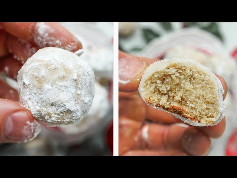 Keto Snowball Cookies JUST 1 NET CARB   Mexican Wedding Cookies Russian Tea Cookies for keto