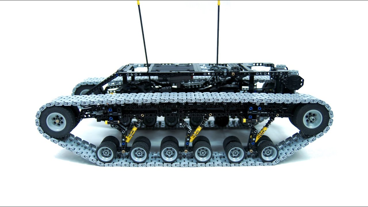 Lego Technic Motorized Ripsaw Xl With Custom Tracks Youtube