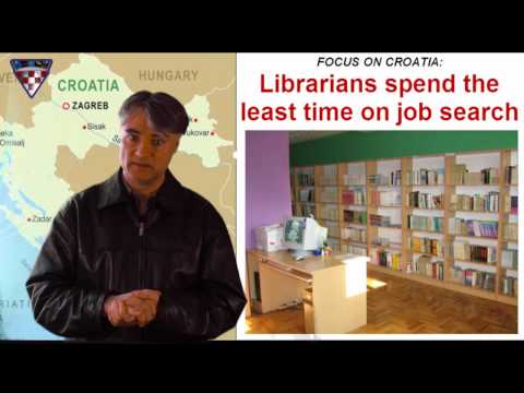 CROATIA (January 2011) - Librarians  spend the least time on job search