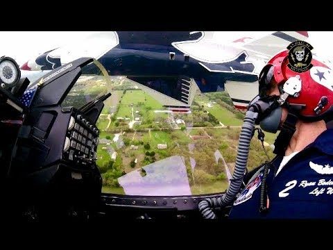 Awesome Pilot Skill | US Air Force Thunderbirds F-16 Fighter Jet Cockpit View