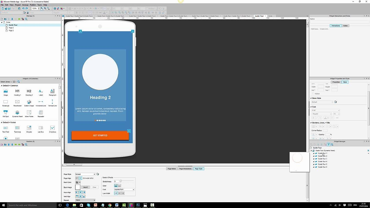 Mobile Prototyping with Axure 7