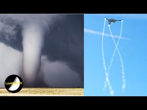 Shocking UFO Video From Portugal? Tornado & UFOs Spotted In Real Life!