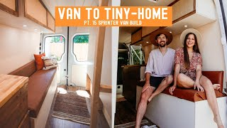 From VAN to TINYHOME | DIY Sofa and Butcher Block Countertops » Sprinter Van Build