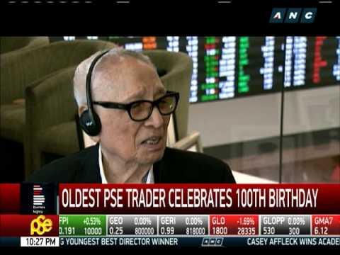 Oldest PSE trader celebrates 100th birthday
