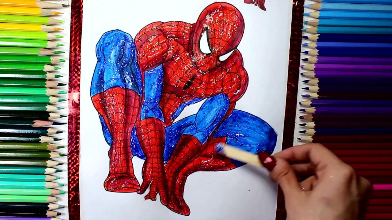 Spiderman Boyama örümcek Adam çocuklar Için Eğlenceli Boyama