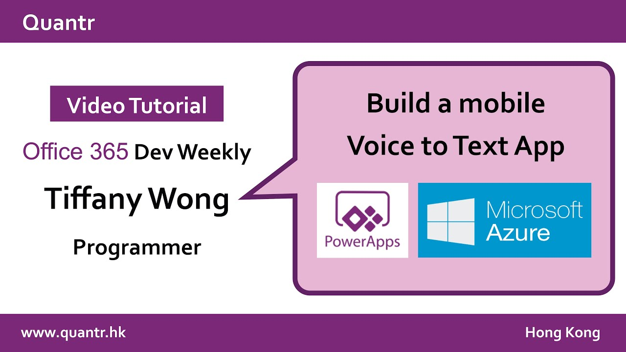 Powerapps Tutorial Build A Voice To Text App Youtube