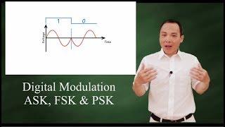 Digital modulation: ASK, FSK, and PSK