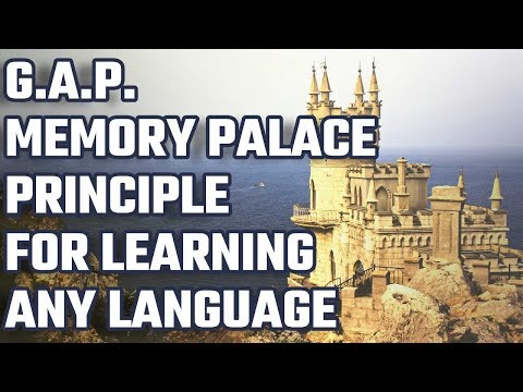 The G A P  Memory Palace For Language Learning Principle