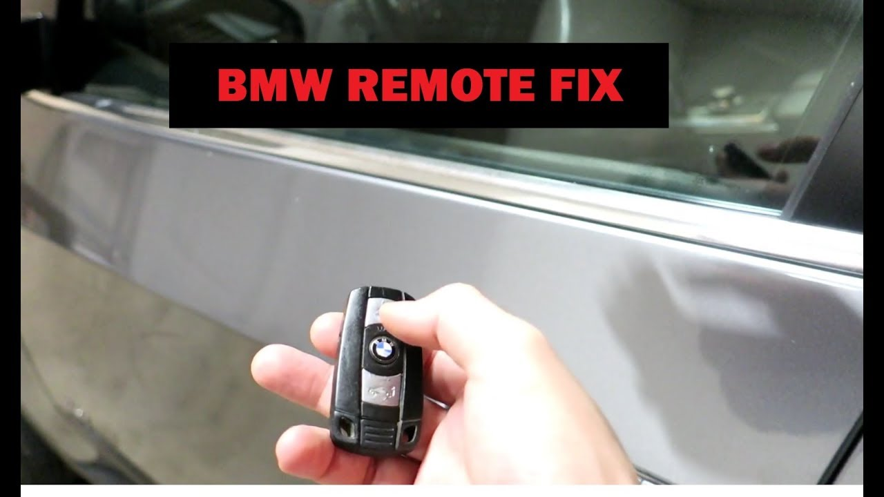Bmw Key Fob Remote Not Working With Comfort Access Try