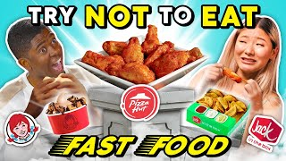 Try To Resist Eating New Fast Food Menu Items | People Vs. Food (Wendy's, Pizza Hut)