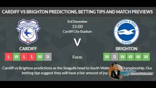 Cardiff vs Brighton PREDICTION (by 007Soccerpicks.com)