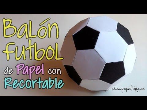 Balon Futbol De Papel