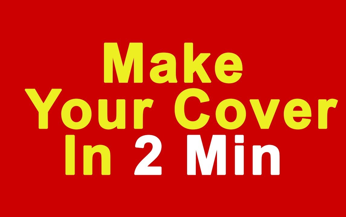 How To Make Book Cover Simple : Make your own book cover fast easy youtube