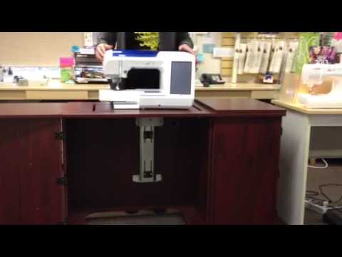 How Hydraulic Lift On Sewing Cabinet Works (2)