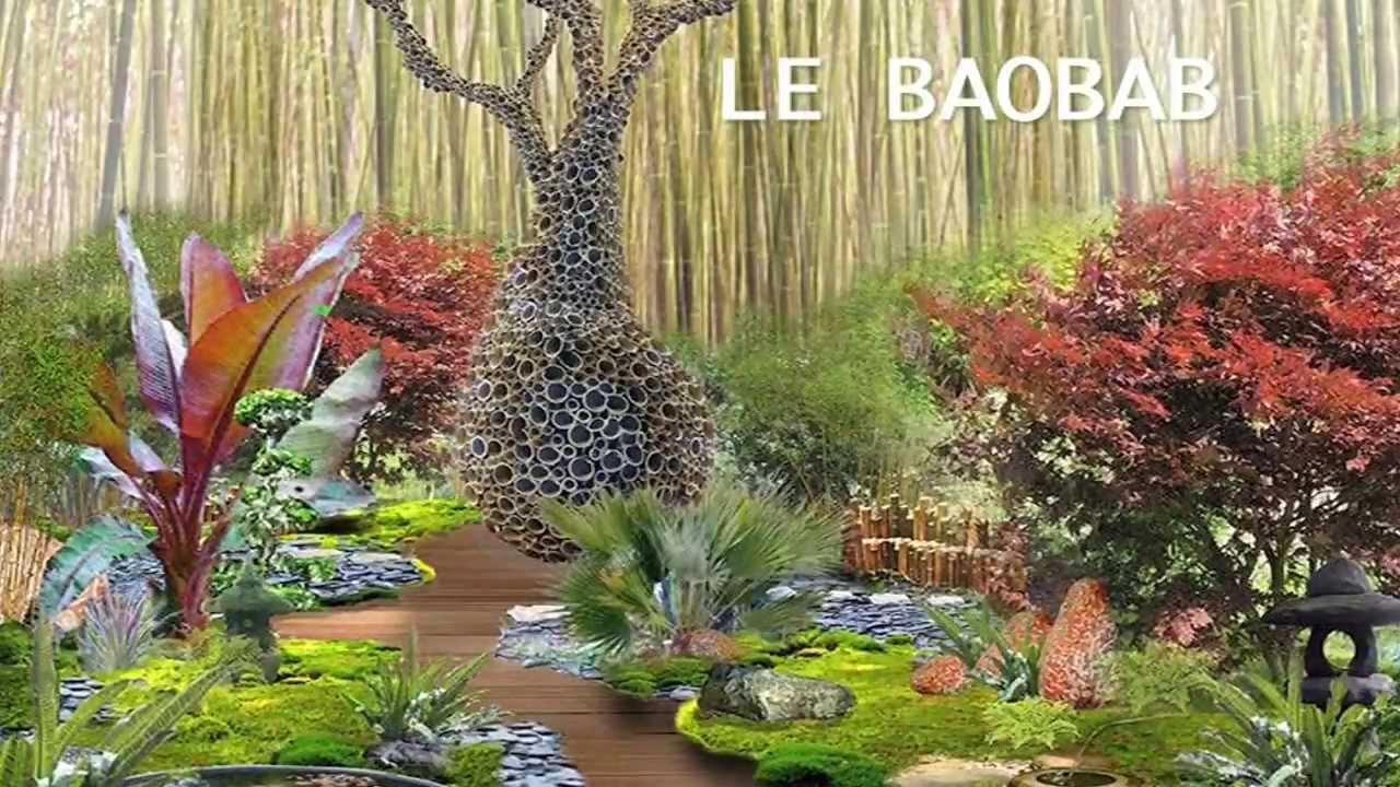 Jardins jardin l 39 arbre baobab youtube for Baobab jardin