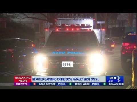 Gambino crime family boss fatally shot at Staten Island home