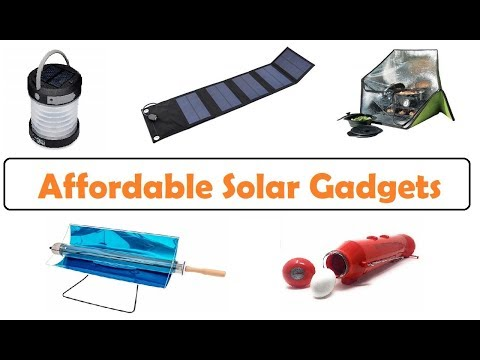 Affordable Solar Gadgets in 2018