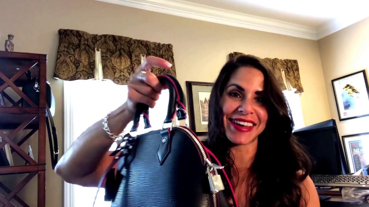 5b63a451de91 Louis Vuitton Alma BB Epi Noir Unboxing - YouTube