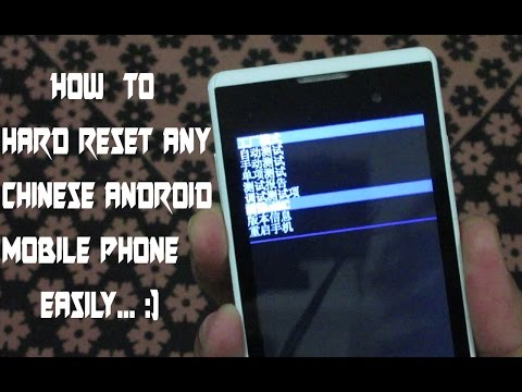 How to hard reset any chinese android smart phone easily | How to factory reset android phone